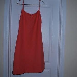 Vintage J. Crew Peach Dress with Spaghetti Straps